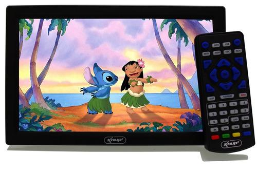 tv digital portátil led monitor hd 9 polegadas usb  knup