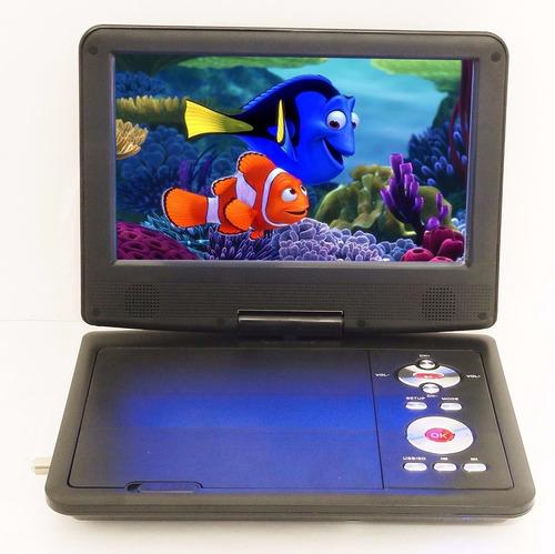 tv digital portatil pantalla lcd 7 con dvd usb sd entrada av