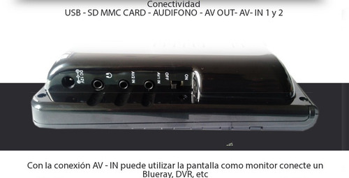 tv digital portatil pantalla lcd 9 pulgadas usb sd sc499