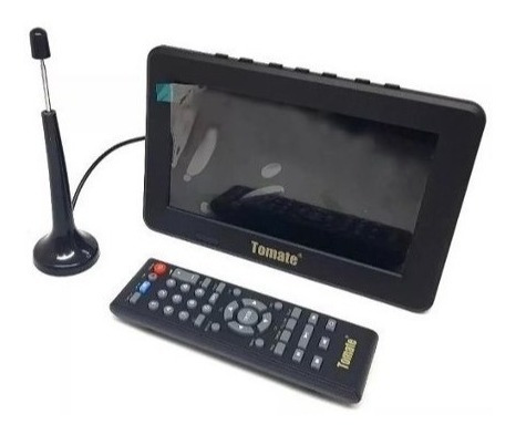 tv digital tela monitor 7 polegadas tomate + controle remoto