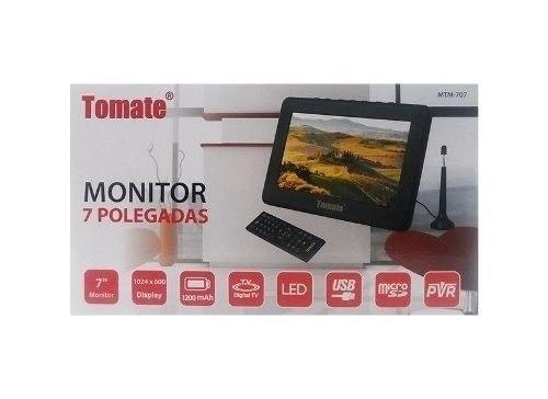 tv digital / tela monitor 7 polegadas tomate mtm 707