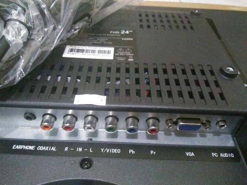 tv e monitor led 24 mtek mk24cn2 full hd hdmi/usb+ conversor