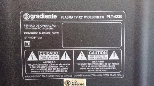 tv gradiente plasma  42 polegadas original