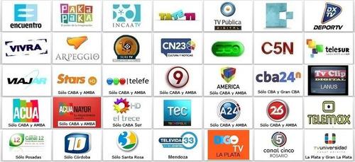 tv gratis tda kit decodificador hd + antens yagi + cable