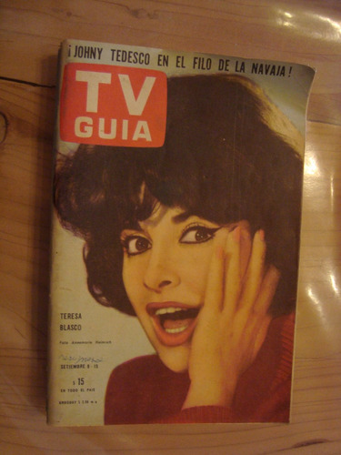 tv guia 66 9/9/64 t blasco j tedesco m ross b mujica alfaro