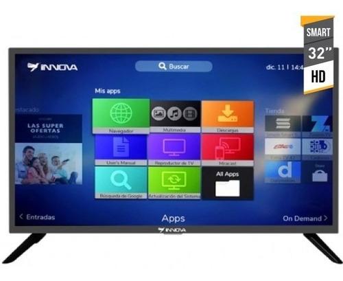 tv innova 32 smart hd android 7 +soporte de pared