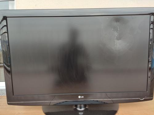 tv lcd 47 polegadas - lg (peças) - display está quebrado.