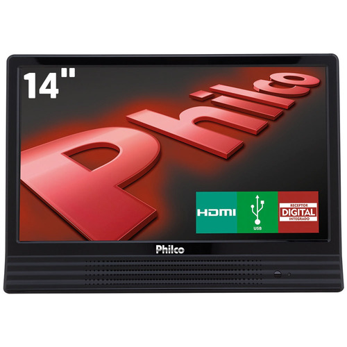 tv led 14 polegadas philco hd conversor digital ptv14