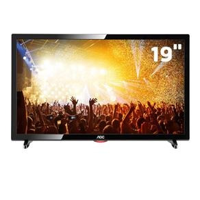 tv led 19 hd aoc le19d1461 conversor digital integrado