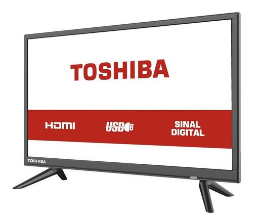 tv led 24'' hd toshiba l1850 2 hdmi usb conversor digital