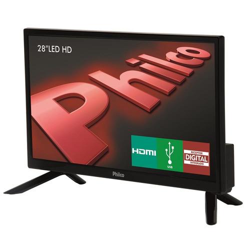 tv led 28 hd philco ph28n91d integrado som surround dnr