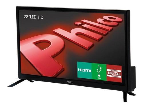 tv led 28  philco ph28n91d hd 1 usb 1 hdmi