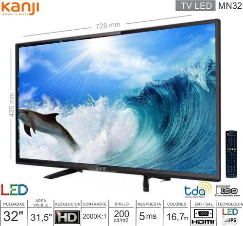 tv led 32 digital hd hdmi vga usb tda salida audio