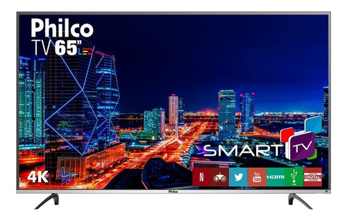 tv led 4k philco 65  preto bivolt ptv65f60dswn