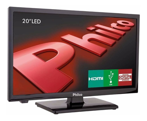 tv led hd 20 philco ph20u21d com conversor digital 2 hdmi