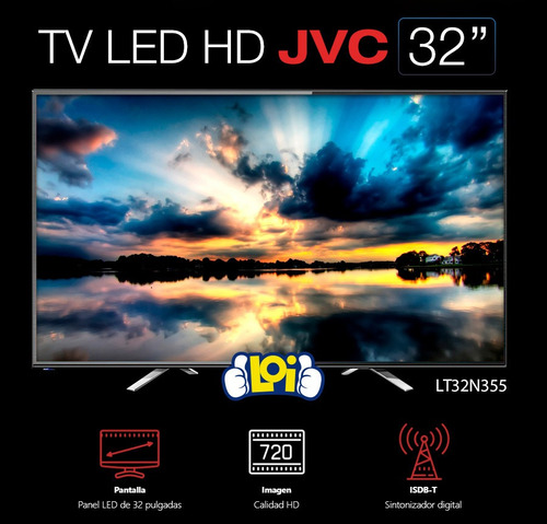 tv led jvc 32' full hd sintonizador digital 3 años gtia loi