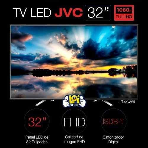 tv led jvc full hd 32'' isdb-t 1 año de garantia negro
