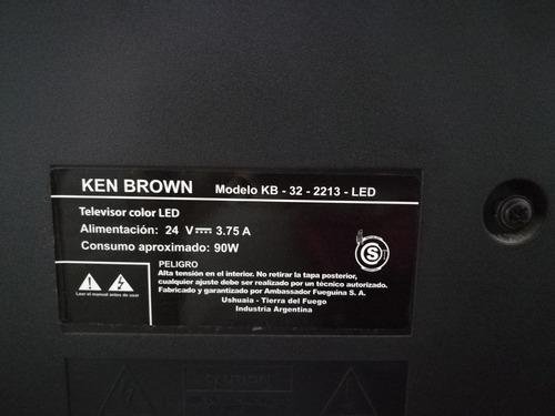 tv led ken brown 32' pantalla golpeada