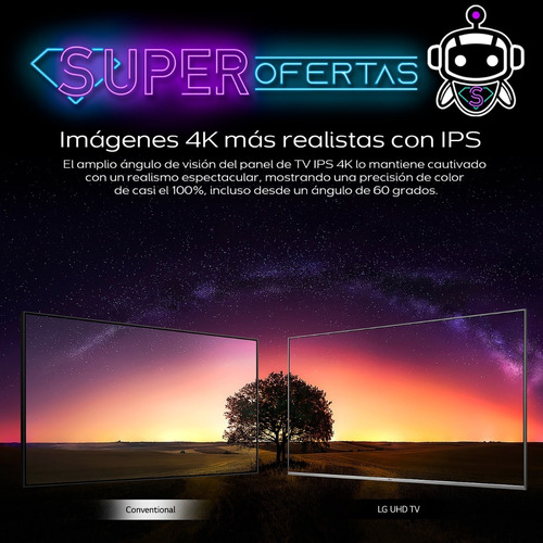 tv led lg 75 4k ultra hd + gratis! soporte p a r e d !!