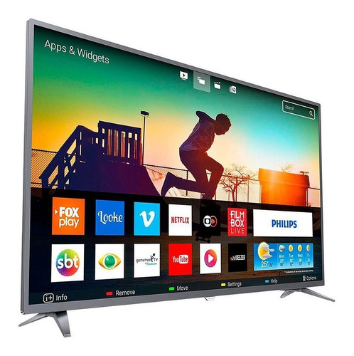 tv led philips 4k smart 50 pul 4k uhd wifi netflix 50pug6513