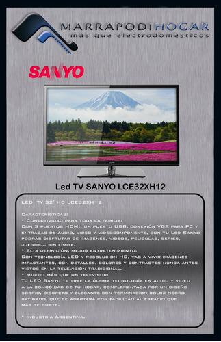 tv led sanyo lce32xh12 - 32  - hd