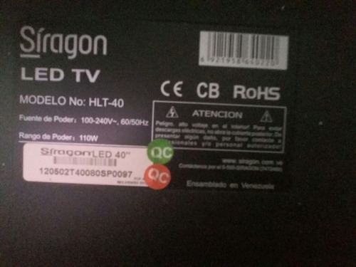 tv led siragon 40 pulgadas modelo hlt-40 con base articulada