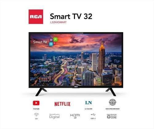 tv led smart 32 slim rca hd tda hdmi netflix mundial
