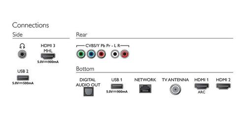 tv led smart 4k 55  philips 55pug6703/77