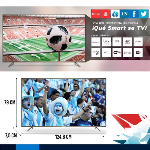 tv led smart 55  4k ultra hd hitachi netflix usb hdmi *6