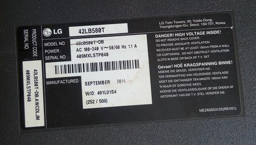 tv lg 42l580t repuestos