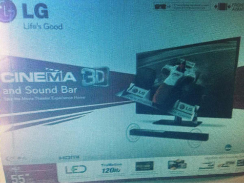tv lg 55 pulgadas. nuevo. modelo 55lm4700 3d led