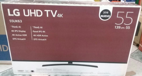 tv lg smart 4k 55 modelo 2018 magic control y soporte gratis