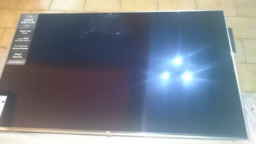 tv lg  super uhd 55 4k    pantalla  rota  s/control