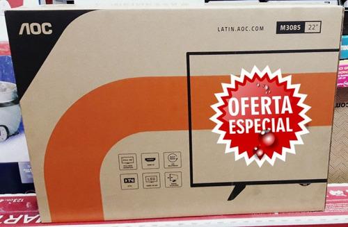 tv monitor aoc 22 hd tv digital nuevos sellados