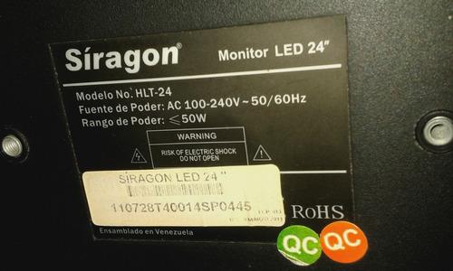tv monitor led hlt-24 siragon para reparar o repuesto