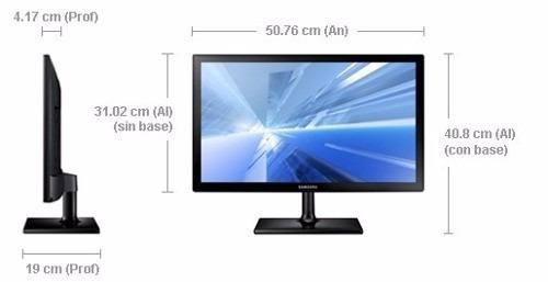 tv monitor samsung 22. full hd,pip,hdmi,control. mod 301