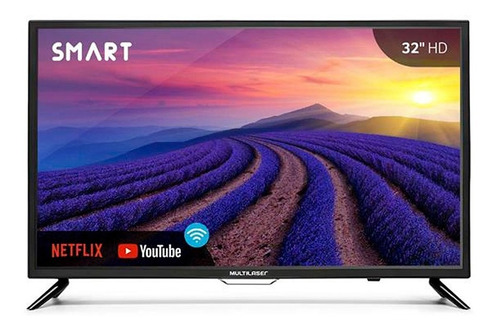 tv multilaser smart wi-fi 32 polegas hd hdmi vga tl006