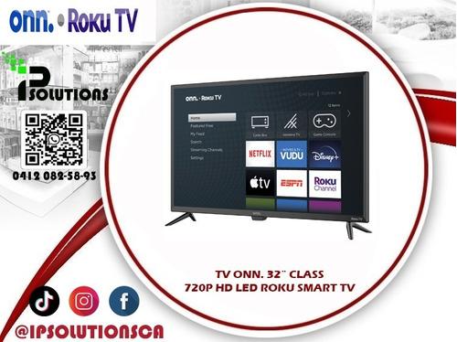 tv onn 32´´ class 720p hd led roku smart tv ip