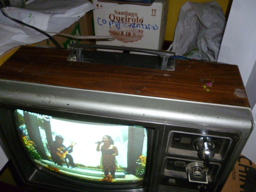tv panasonic colores - colección, modelo semi imperial