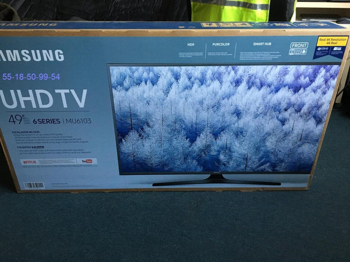Tv Pantalla Samsung 49 Pulgadas 4k Uhd Smart Tv Un49mu6103
