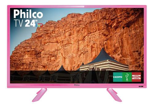 tv philco led 24  ptv24c10dr 2 hdmi 1 usb - rosa