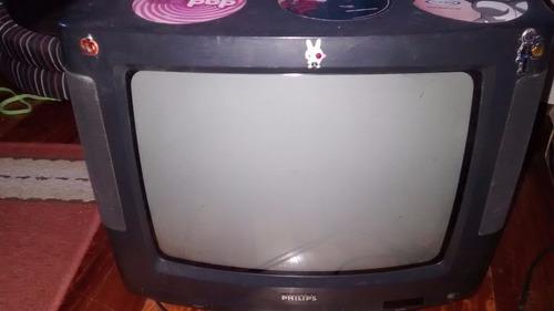 tv phiplips 14 pulgadas con control remoto