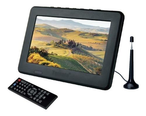 tv portátil led monitor tv digital 7 pol micro sd c/ antena7