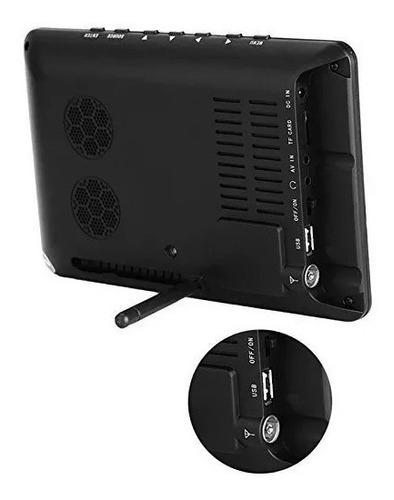 tv portátil led monitor tv digital 9 pol sd antena controle