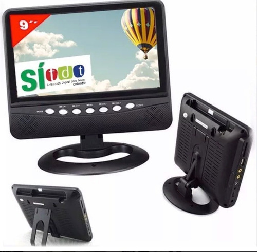 tv portátil tdt 9 pulgadas tdt incorporado portatil nuevo