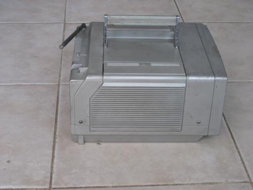 tv portatil vintage blanco y negro 5 pulg sin audio