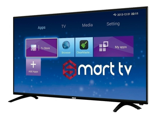 tv rca smart 43 fulhd +teclado smartv neflix youtube android