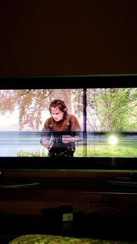 tv samsung 49 polegadas imagem 4k com defeito na tela.