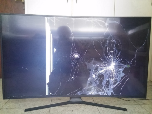 tv samsung 4k 55 polegadas un55mu6300g - tela curva quebrada