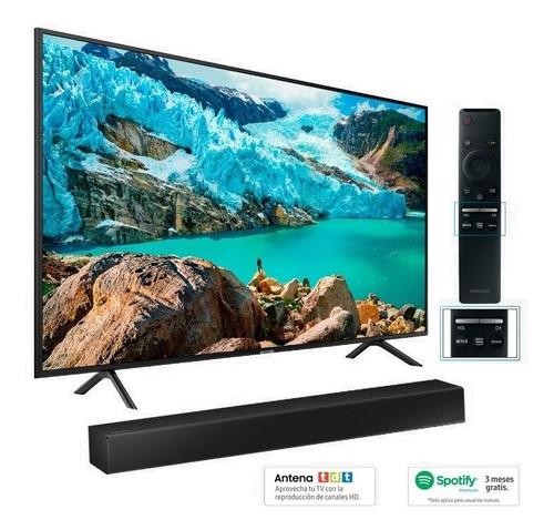tv samsung 50 smart tv + barra de sonido + spotify + silla r